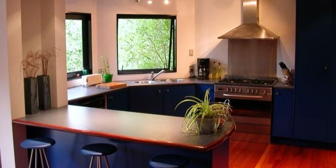 cucina a vista, soggiorno con cucina a vista