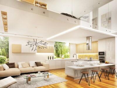 soggiorno con cucina a vista, soggiorno con angolo cottura