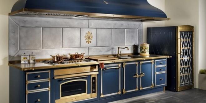 Officine Gullo Blocco Cucina Blu Profondo Arrecasa