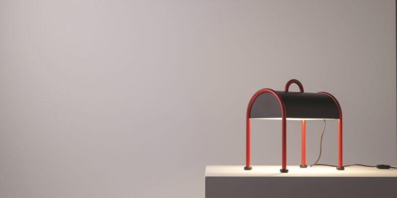 lampada stilnovo valigia da tavolo