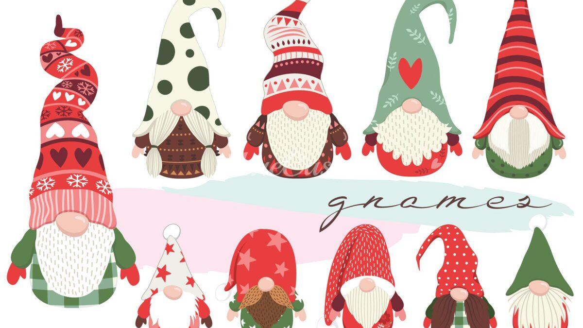 Tutte le dimensioni e le forme degli gnomi di Natale