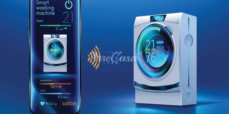 Lavatrice Smart con connessione wireless e app mobile