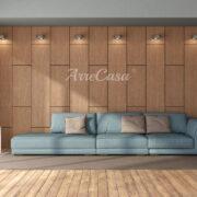 Boiserie in legno moderna