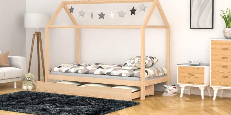 letto singolo con letto estraibile