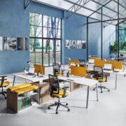 Postazioni lavorative in coworking con Vista Essence di Newform Ufficio