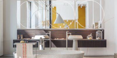 Installazione Mesh Topology di Agape alla Milano Design Week